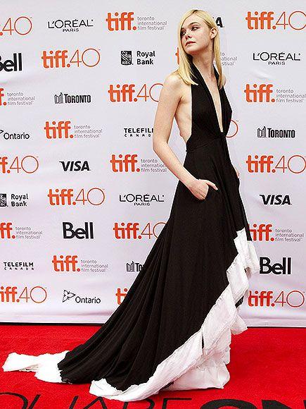 Toronto Film Festival 2015: Elle Fanning in a black Emilio Pucci halter dress