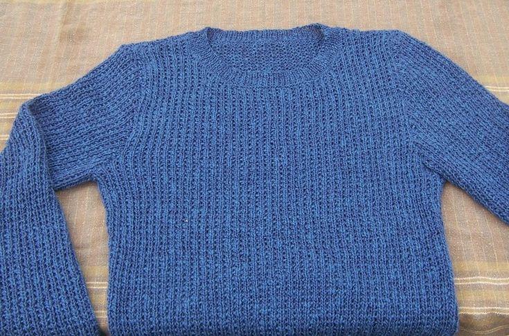 BERGI, spiegazione a far a maglia un maglione di domoras su DaWanda.com
