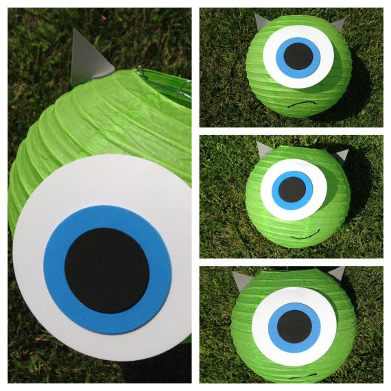 Mike Wazowski Inspired Green Monster Paper Lantern Decoration