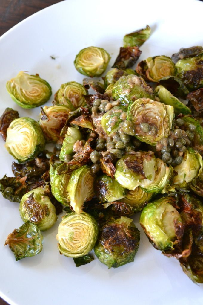 Lemon Garlic Brussel Sprouts - DELISH!  Perfect for a party but easy enough for a weeknight.