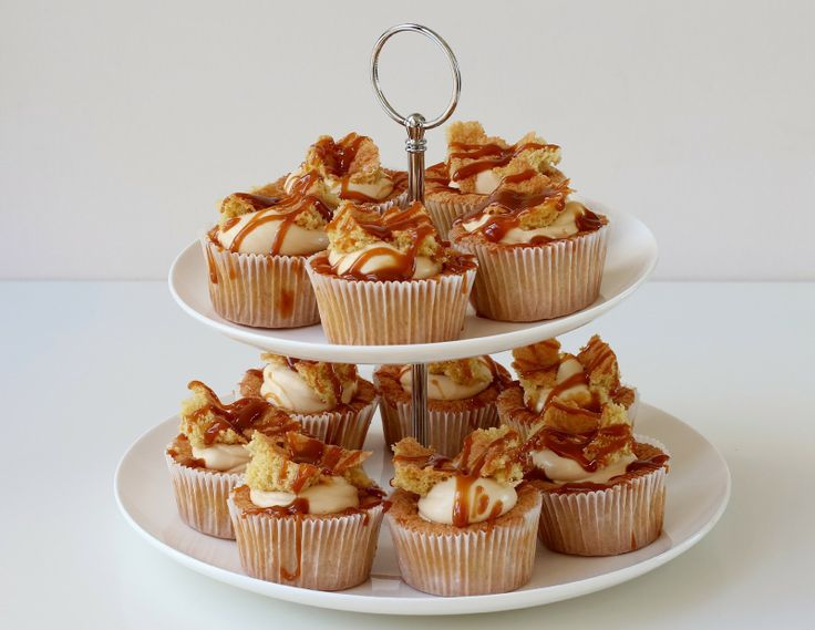 Milk and Honey: Brown Sugar Butterfly Cakes with Caramel Creme Fraiche