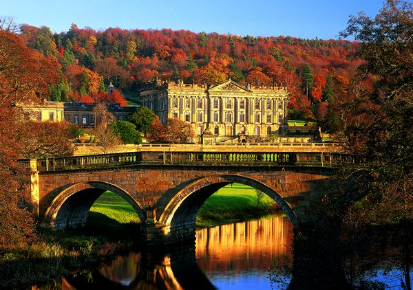 Chatsworth House in Derbyshire.
