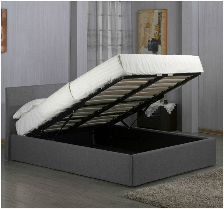 Details about Ottoman Storage Bed Frame In Linen Fabric Comes In Single  Double & Kingsize - 17 Parasta Ideaa: Ottoman Storage Bed Pinterestissä
