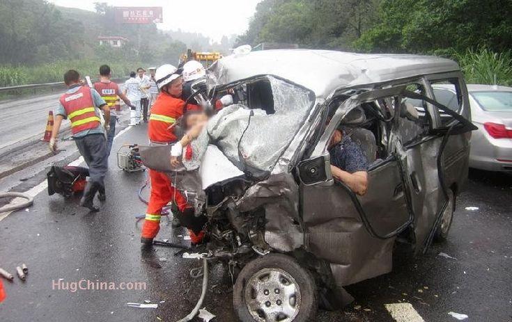 Car Crash Highway Security Camera