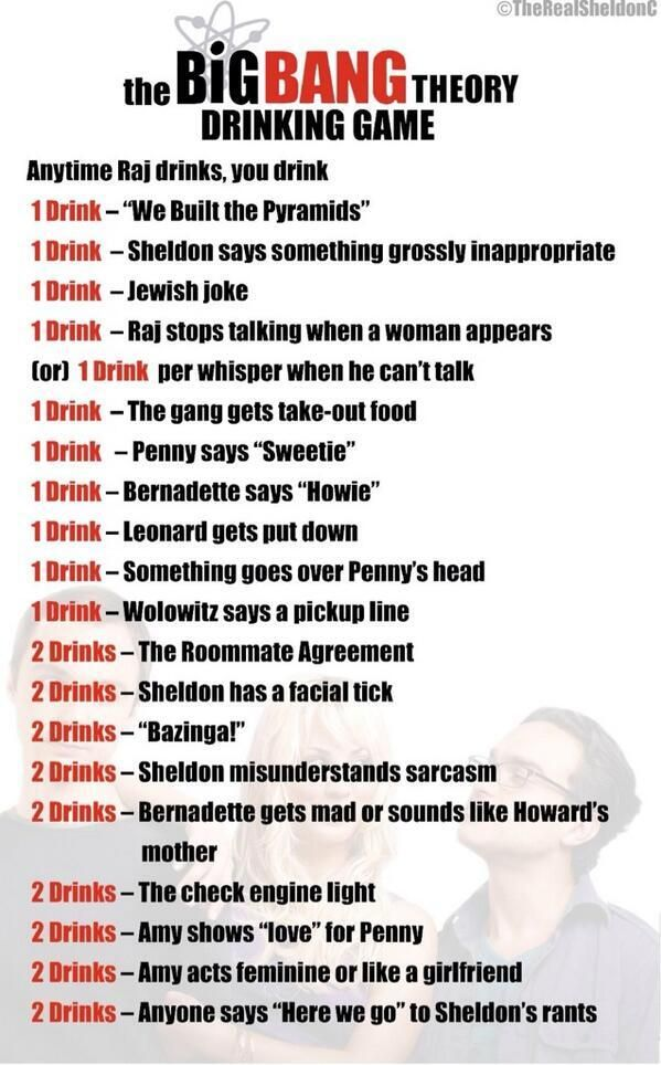 The Big Bang Theory Drinking Game ...