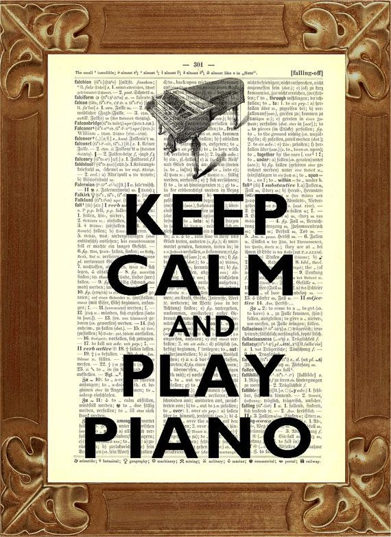 for piano room!  Also, this would be better with sheet music in the background instead of newspaper print.