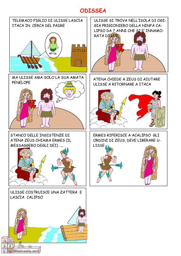 Odissea a fumetti 1ª Media | AiutoDislessia.net