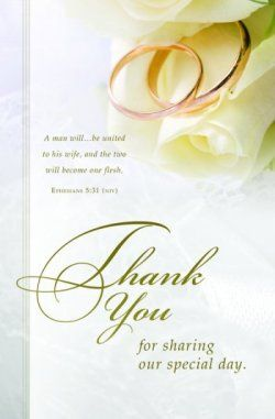 Bulletin Thank You For Sharing Our Special Day NIV Scripture Package Of By Warner Press Church Supplies Upc 730817347370