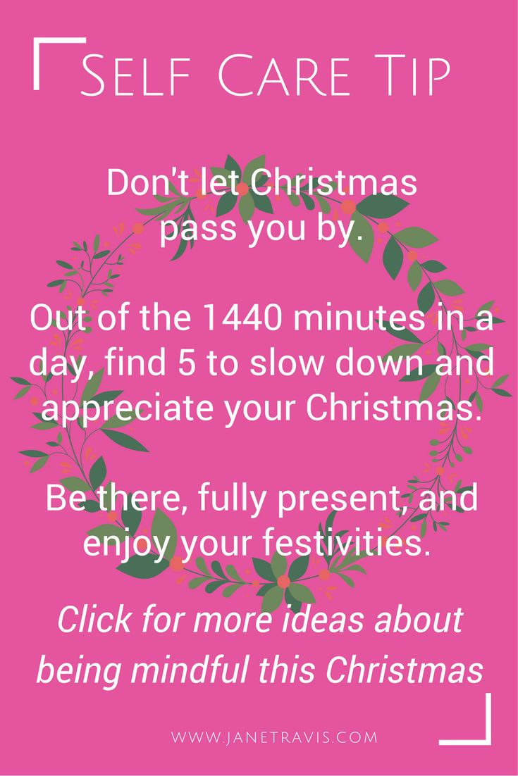 Be mindful this Christmas, and don't miss out on the experience
