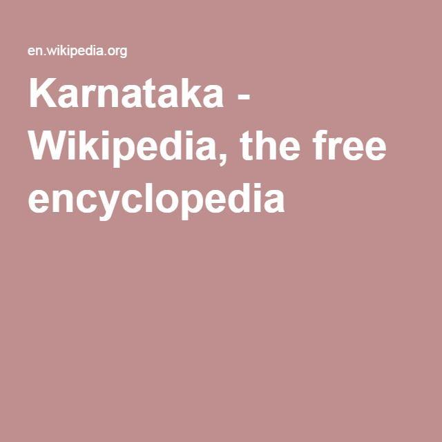 Karnataka - Wikipedia, the free encyclopedia