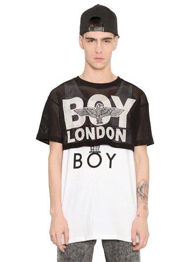 BOY LONDON - MESH CROP TOP - LUISAVIAROMA - LUXURY SHOPPING WORLDWIDE SHIPPING - FLORENCE