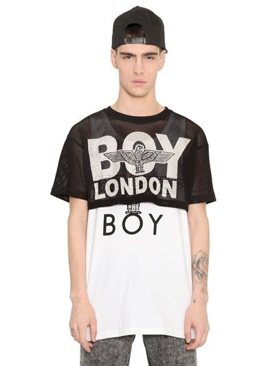 BOY LONDON - MESH CROP TOP - LUISAVIAROMA - LUXURY SHOPPING WORLDWIDE SHIPPING - FLORENCE