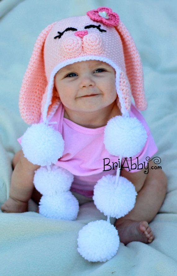 Crochet Sweet Bunny Hat Pattern PDF FILE by BriAbbyHMA on Etsy