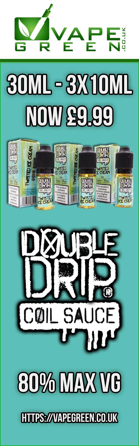 Double Drip by Coil Sauce Max VG E-liquids only £9.99 for 30ml at https://VapeGreen.co.uk #vape #vaping #eliquid #vapegreen #ecig #ejuice #vapeuk #ukvapers