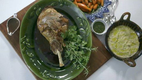 Roast Leg of Spring Lamb with Salt and Pepper and Mint Relish - RTE Food