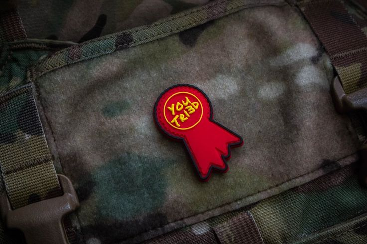 Participation Award Red Morale Patch – MOEGUNS.COM