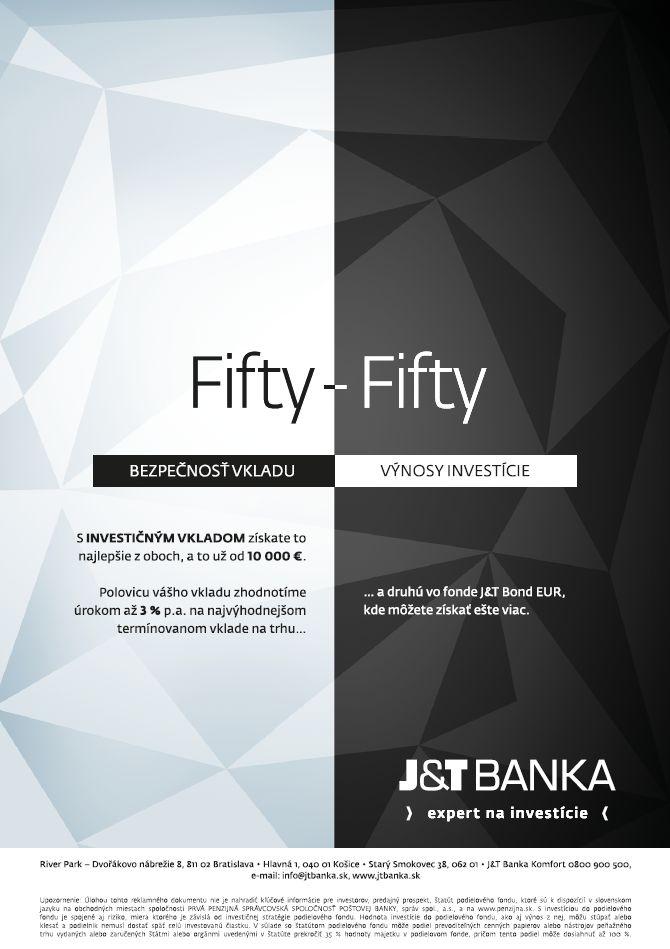 2015, Investičný vklad - Fifty fifty