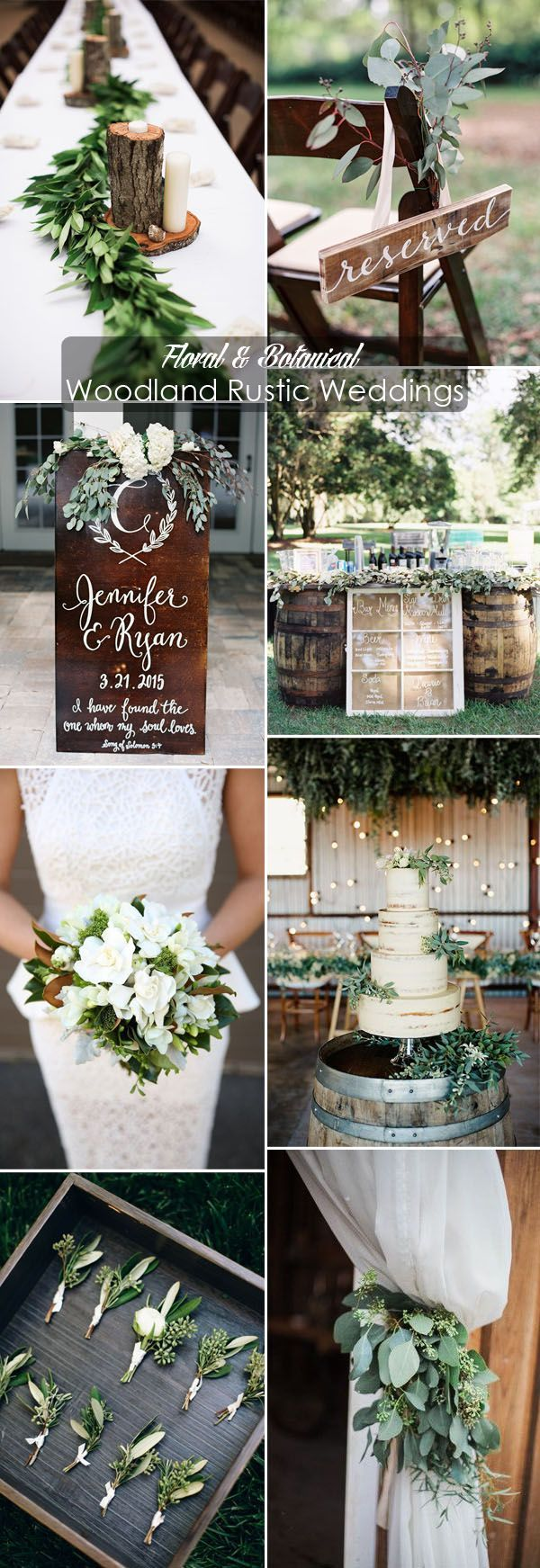 white floral and greenery organic woodland rustic wedding inspiration