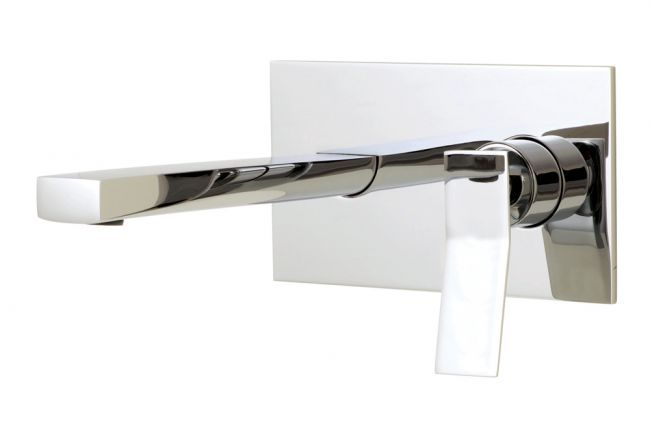 Aquabrass's stylish wall mount bath faucet / Chicane Collection