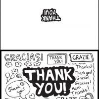 Free Printable Thank You in Different Languages. What better way to show your appreciation? Please repin and share the gratitude!