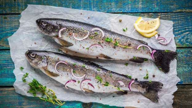 Oily fish such as tuna, trout and mackerel are loaded with DHA (docosahexaenoic acid), which is conc... - Shutterstock
