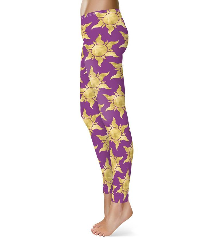 Tangled Suns Fleece Leggings For Women Sizes Xs-3Xl Designer Warm Cozy Winter Wa