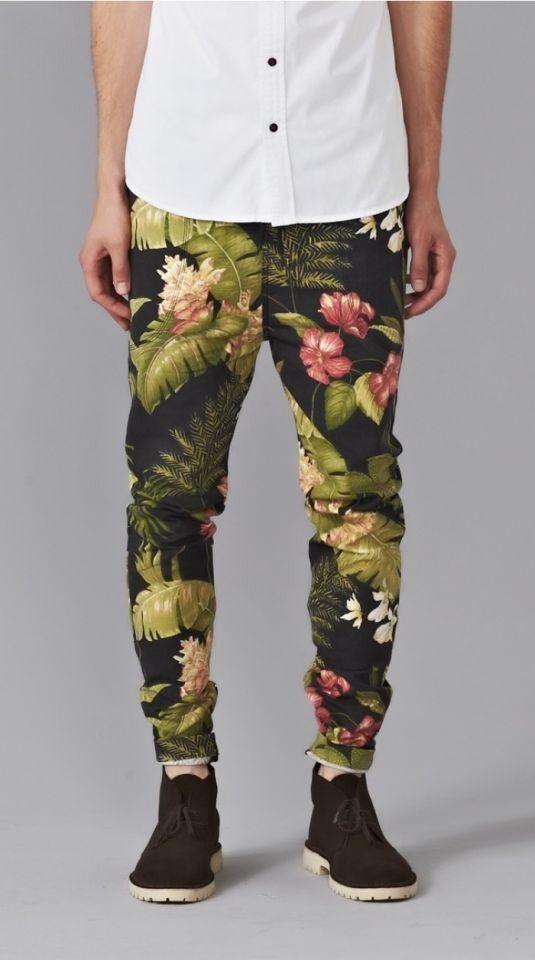 Floral pants for men….Get em!