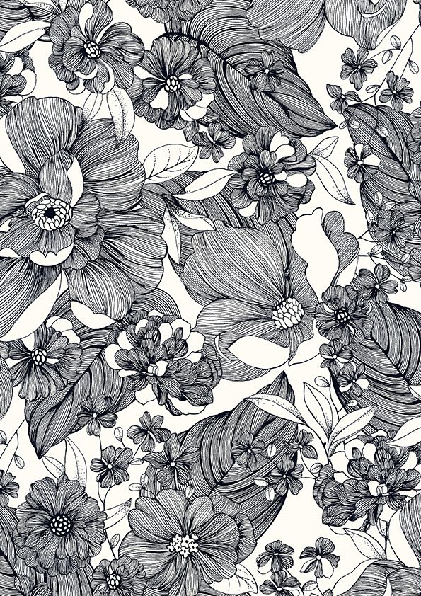 pattern by Minakani for Monoprix #floral