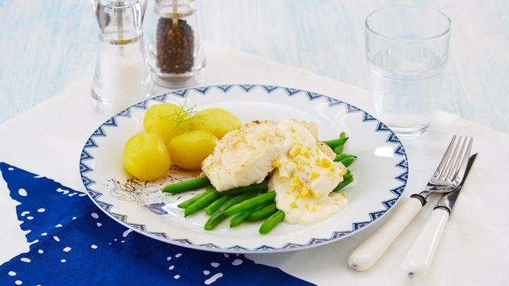 Oppskrift på torsk med eggesaus