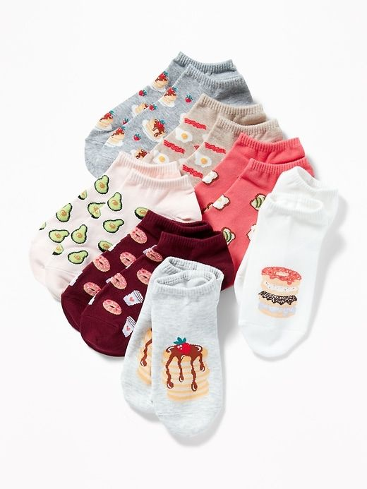 d008d31cd0b Old Navy Women s Printed Ankle Socks 7-Pack Donuts Regular Size One ...