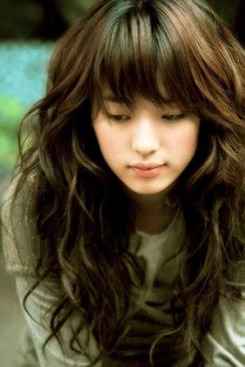 curls in hair styles best 25 hairstyles with bangs ideas on 6997