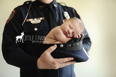 police newborn photo - Google Search