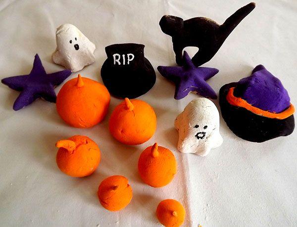 Lavoretto con pasta di sale: le decorazioni di Halloween