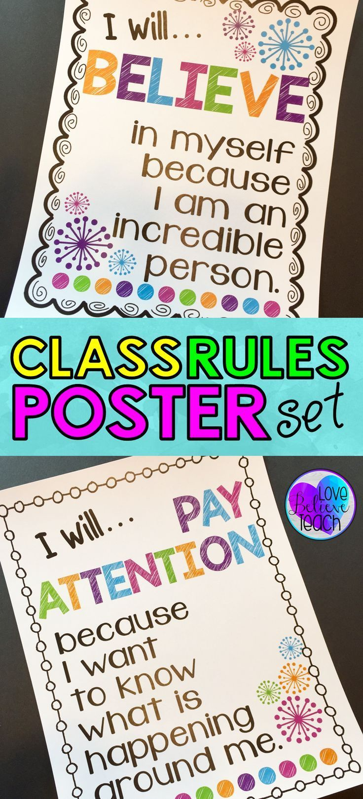 """These posters are more than just basic """"classroom rules"""". They are a great way to help your students think more deeply about their behavior and what you expect from them."""