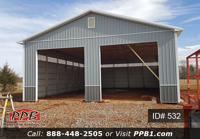 14 X 14 Garage Doors Id 532 Pole Barn Pole Barn House Plans Pole Buildings Pole Barn Homes
