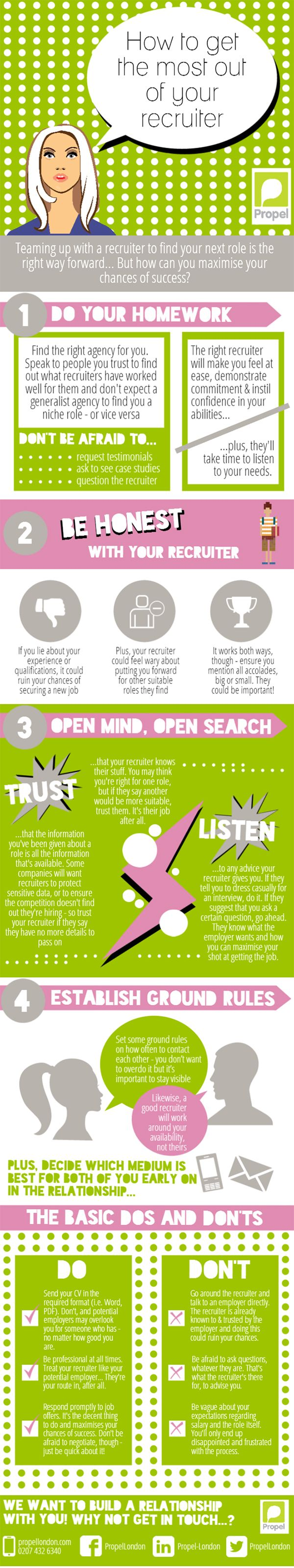 How To Get The Most From Your Recruiter   #Infographic #Career #JobHunting #HowTo