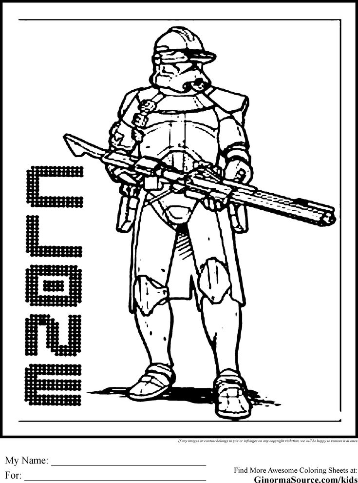 Star Wars Coloring Pages Clone