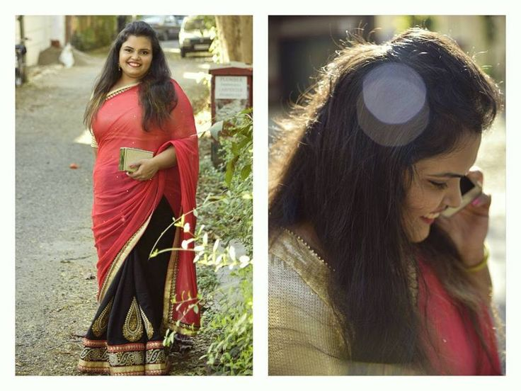 Plus size blogger | Saree | Ethnic | Traditional | Pink | Black | She's A Sixteen