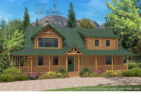 Golden Eagle Log Homes Aspen Valley 2 Floor Plan Details