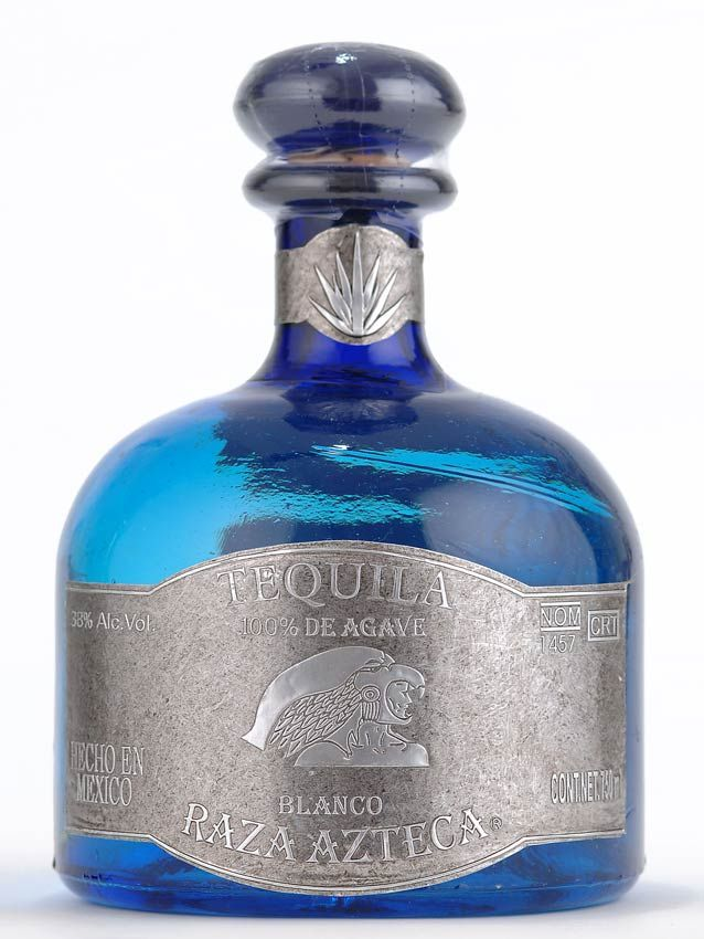 Expensive Tequila Brands | Jayne's Blue Sun tequila bottle