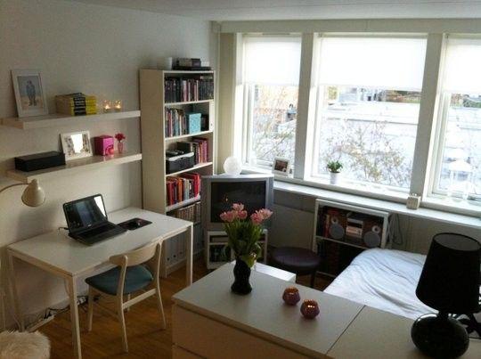 cute small apartment set up apartment ideas pinterest small apartments apartments and. Black Bedroom Furniture Sets. Home Design Ideas
