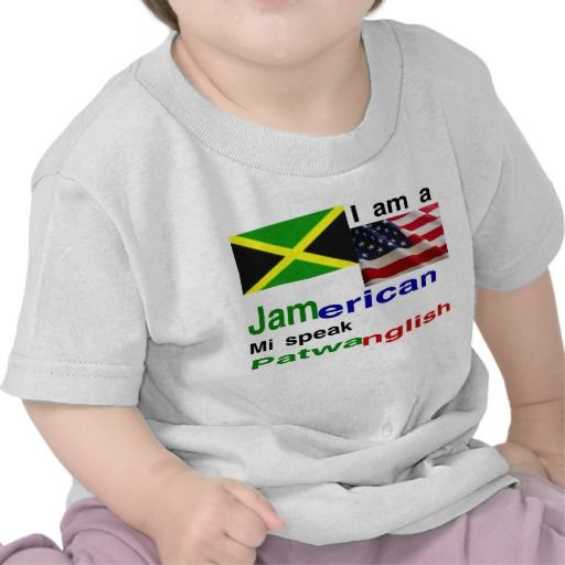 jamaican american baby t-shirts
