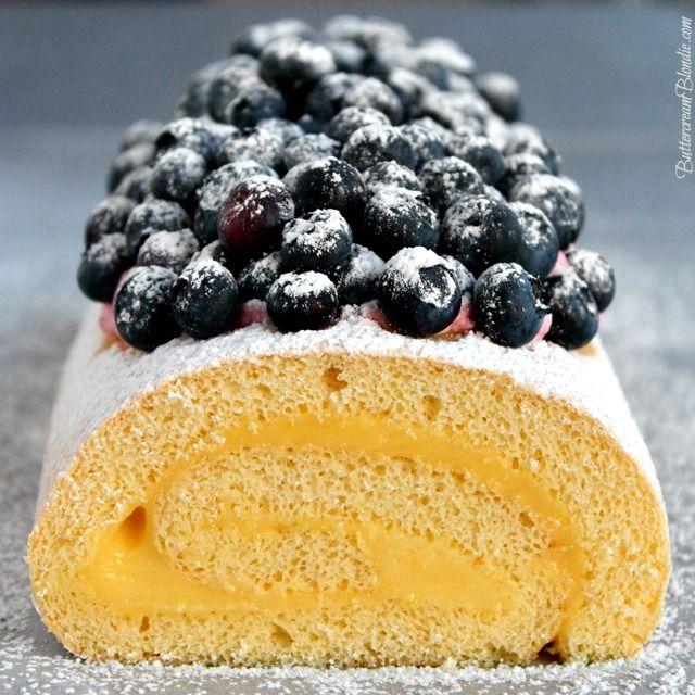 Meyer Lemon Mascarpone Cake Roll | ButtercreamBlondie.com