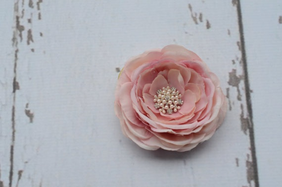 Interchangable STUNNING Soft Pink Flower with by Hazelmoonfly, $9.95