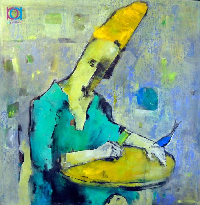 Ammar Alnahhas - Darwis, 100 x 100 cm, pictură in ulei