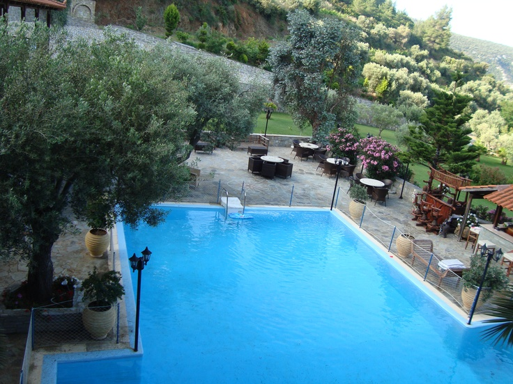 General view of the pool area