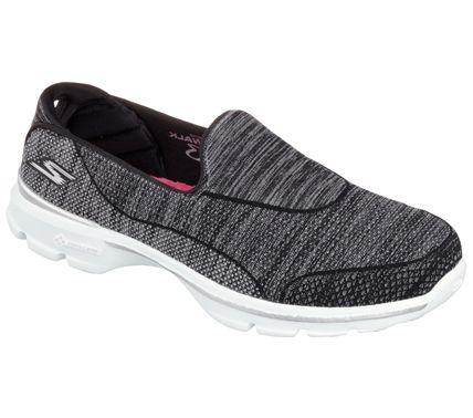sketchers go walk 3 super sock 3 black/white