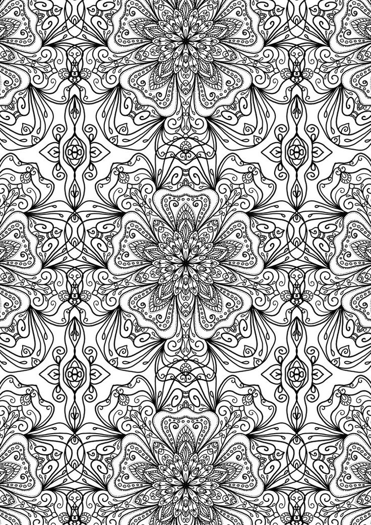 ≡ coloring page Tiled Pattern