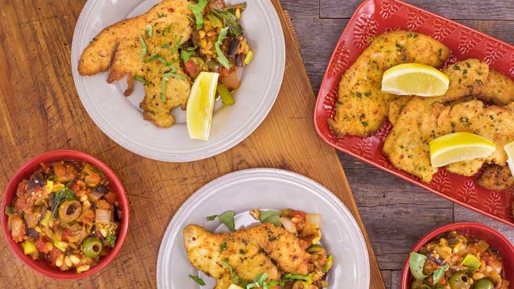 This pescatarian meal pleases everyone's palates.