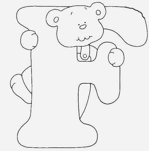 Alfabetos Lindos: Afabeto moldes de letras urso fofo - letras molde para eva ursinho dengoso - alfabeto para colorir ou imprimir